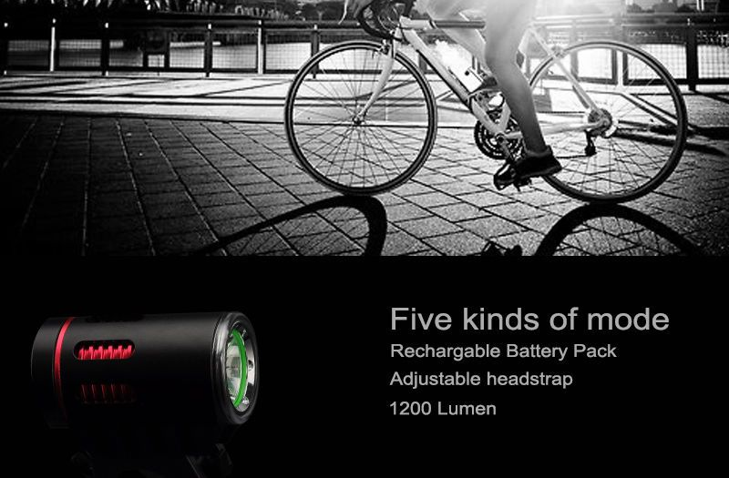 Cree Xm L U2 Led Light 1200 Lumens Adjustable Headstrap Rechargable Battery Cree Led Lights Bike Lights Led Cree