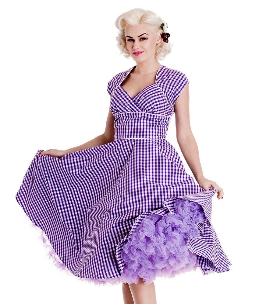 Purple Gingham And Petticoat Gingham Fashion Gingham Dress Dresses [ 1000 x 850 Pixel ]