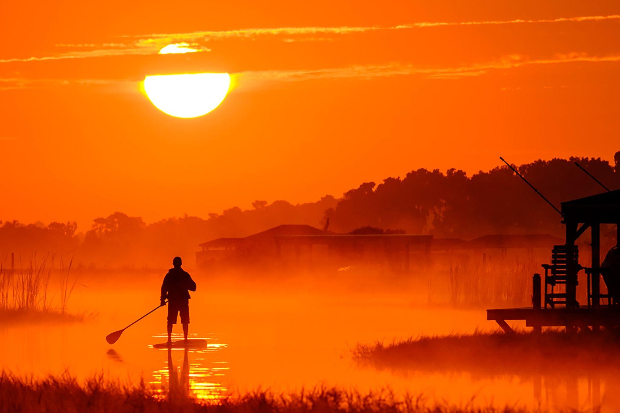 Sunrise Paddle By Pete Surrette 500px