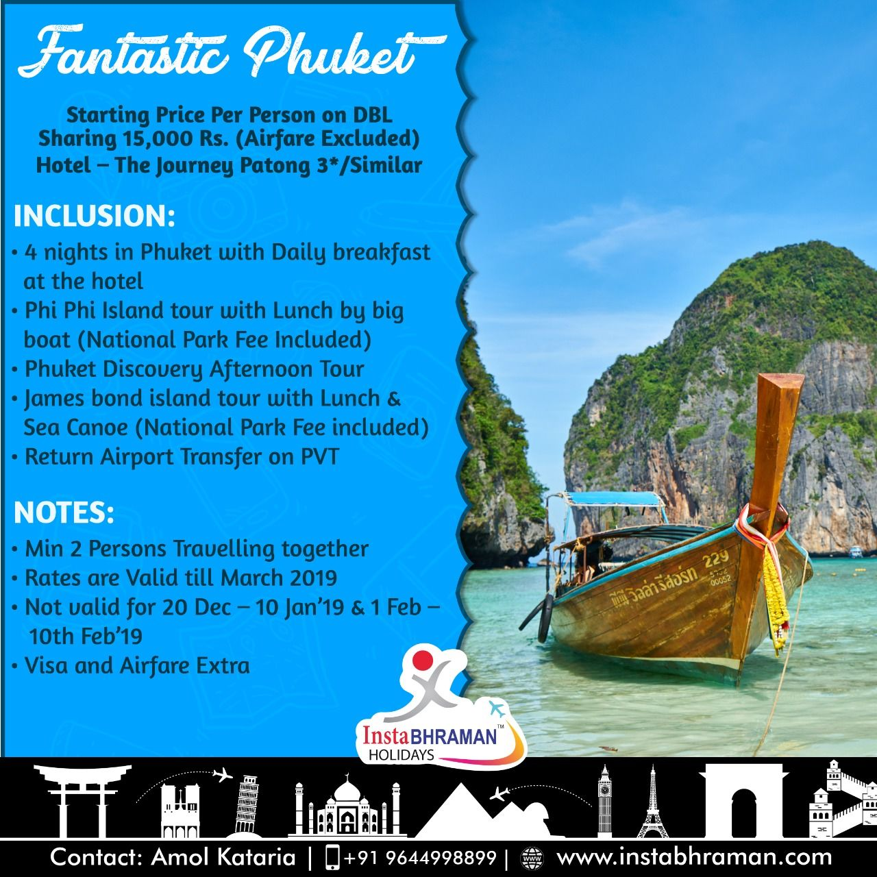 Fantastic Phuket Starting Price Per Person On Dbl Sharing