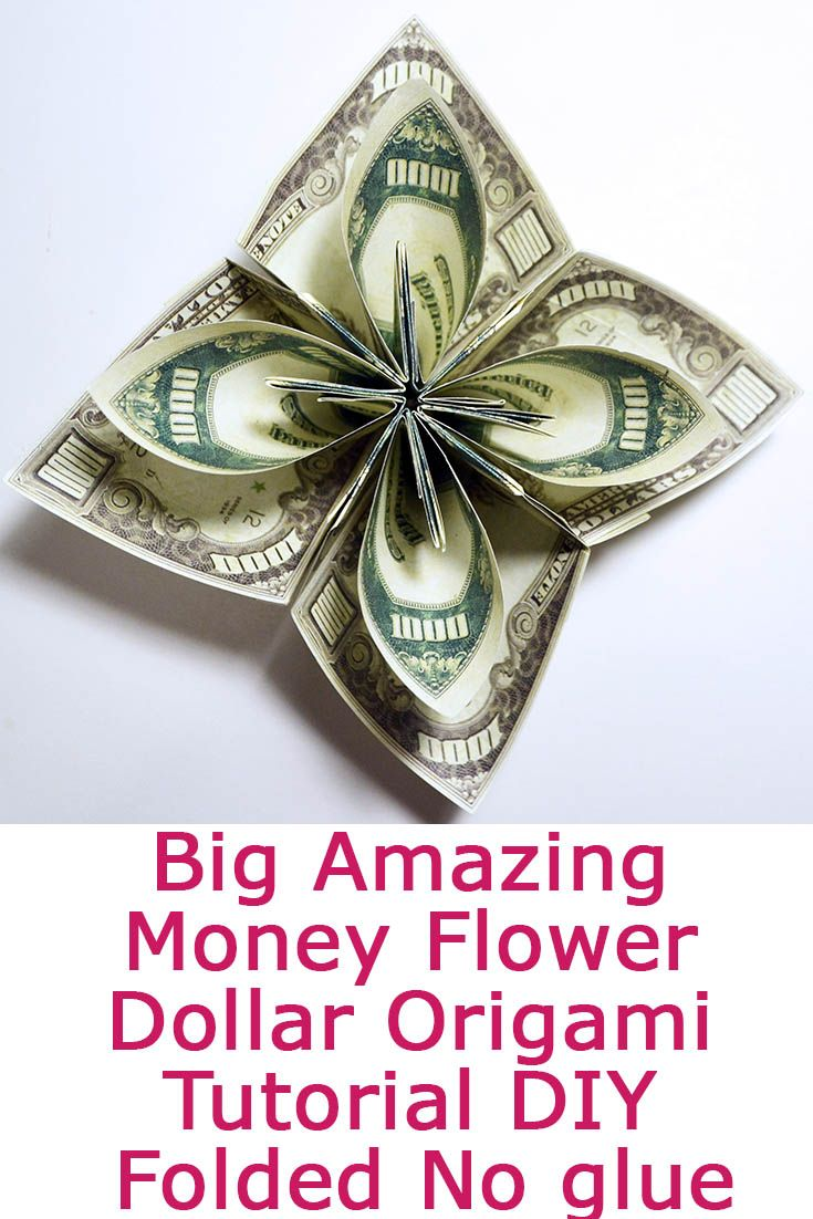 Big amazing money flower origami dollar tutorial diy folded no glue big amazing money flower origami dollar tutorial diy folded no glue this big flower of money is a great gift and home decoration for this tutorial mightylinksfo