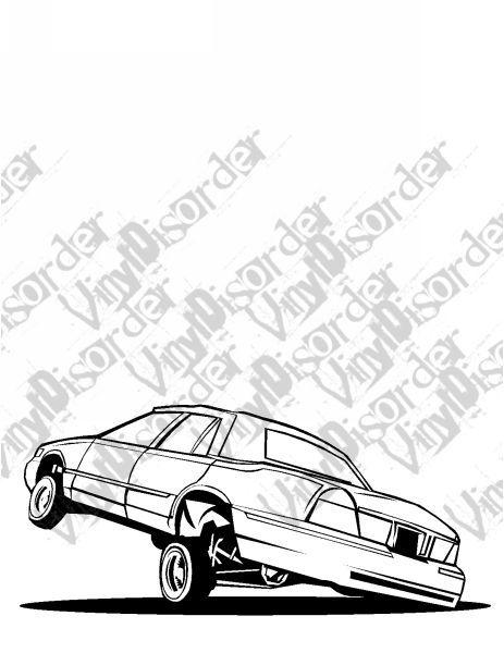 Grandmarquis Grand Marquis Hydrolics Lowrider low rider car Vinyl ...