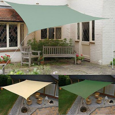 New Outdoor Patio Triangle Square Rectangle Sun Sail Shade Patio Canopy Cover | eBay