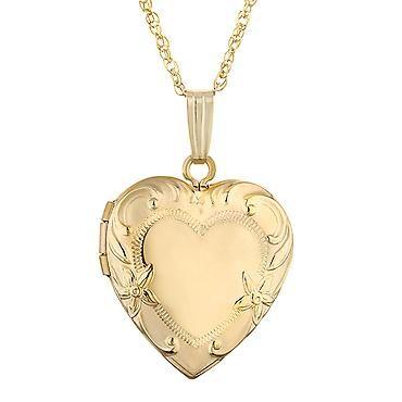 Gold-Filled Engraved Heart Locket   Shop REEDS Jewelers