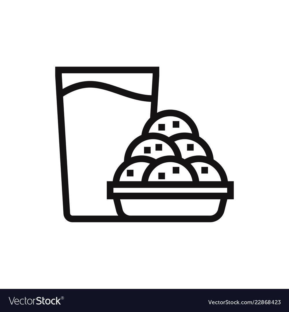 Cookies And Milk Vector Icon Download A Free Preview Or High Quality Adobe Illustrator Ai Eps Pdf And High Resolution Jpeg Version Icon Vector Easy Drawings