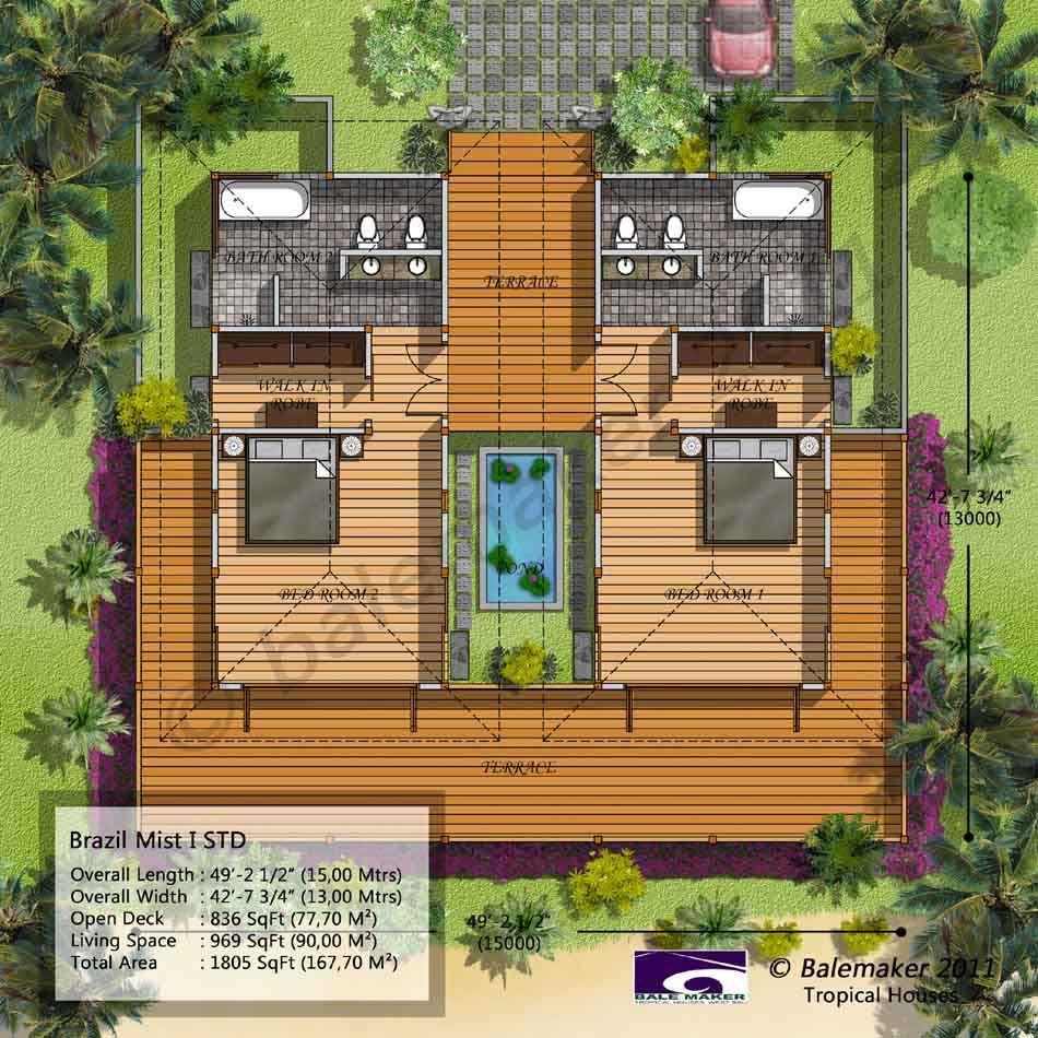 Balemaker Tropical House Floor Plans Modeling Design