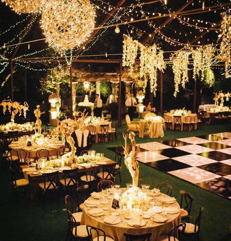 Afternoon Wedding Reception Ideas: Outside Night Wedding - Google Search