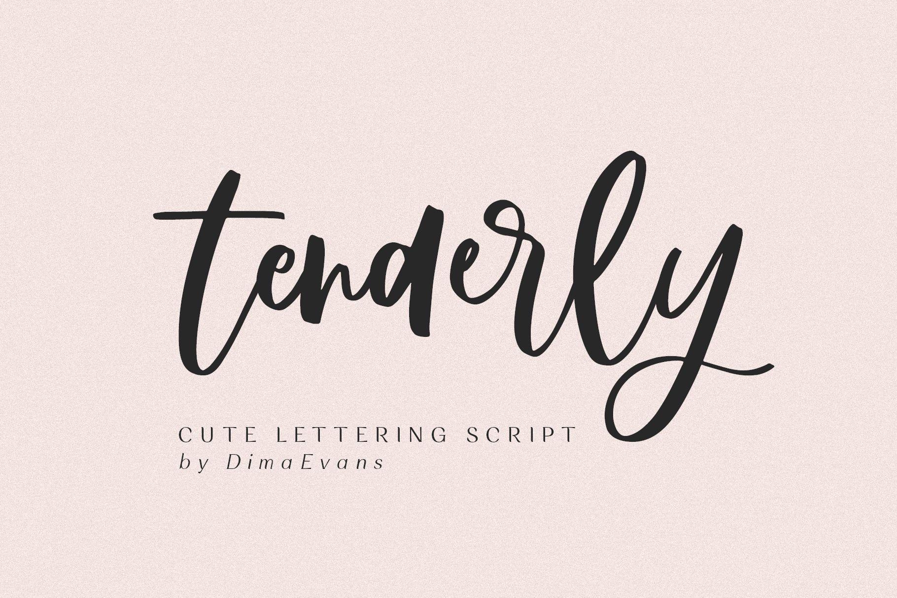 Tenderly Luxury Script Script fonts, Script, Lettering