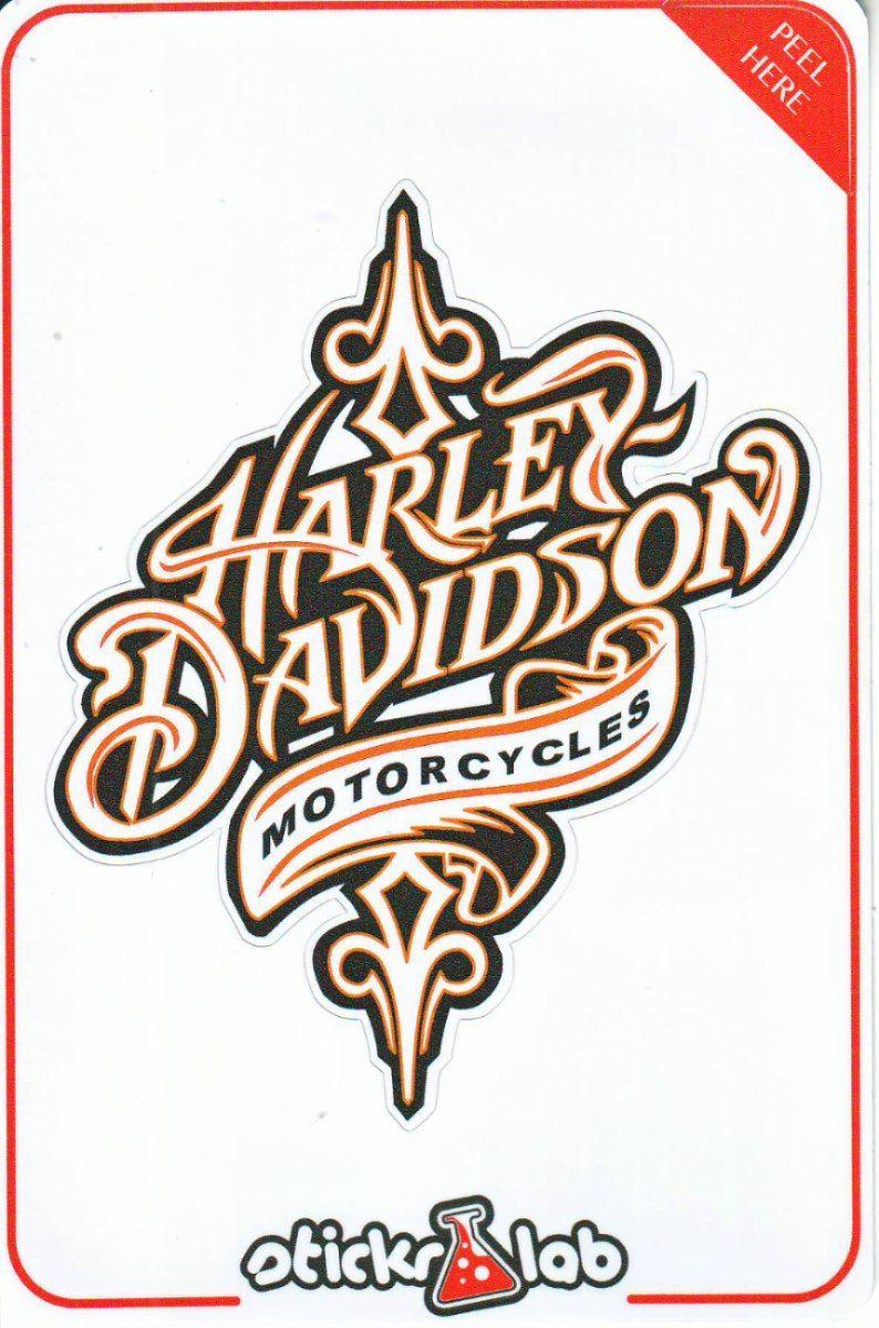 Harley Davidson Motos Naranja Stickers Decals Calanias - Harley davidson custom vinyl stickers