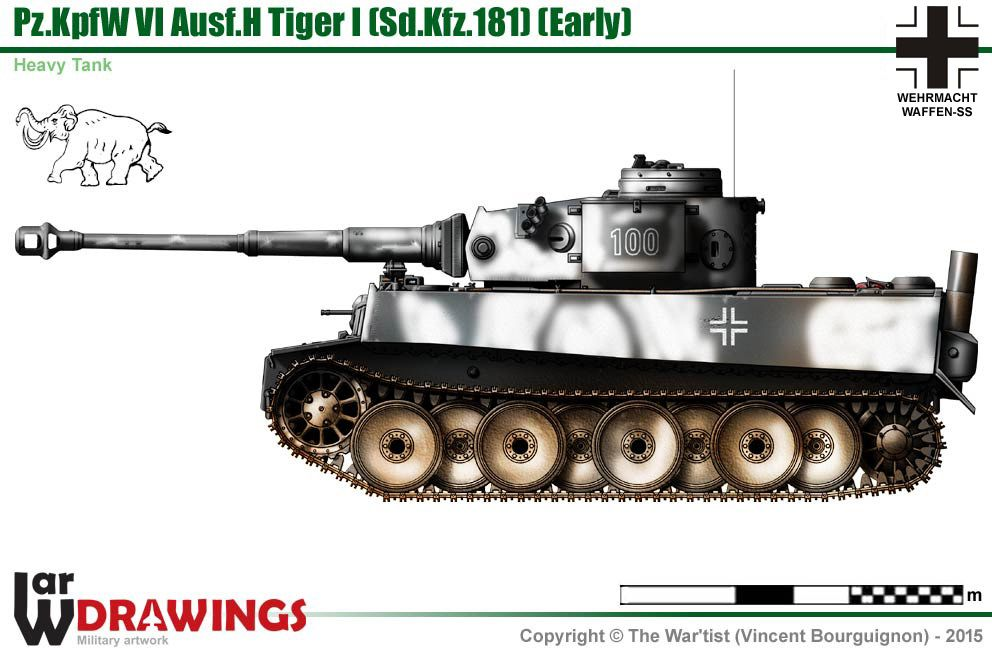 Pz Kpfw Vi Ausf H Tiger I  Early Production Model