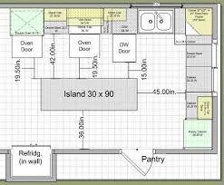 Resultado de imagen para medidas para una cocina con isla ...