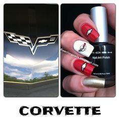 Chevy themed nails