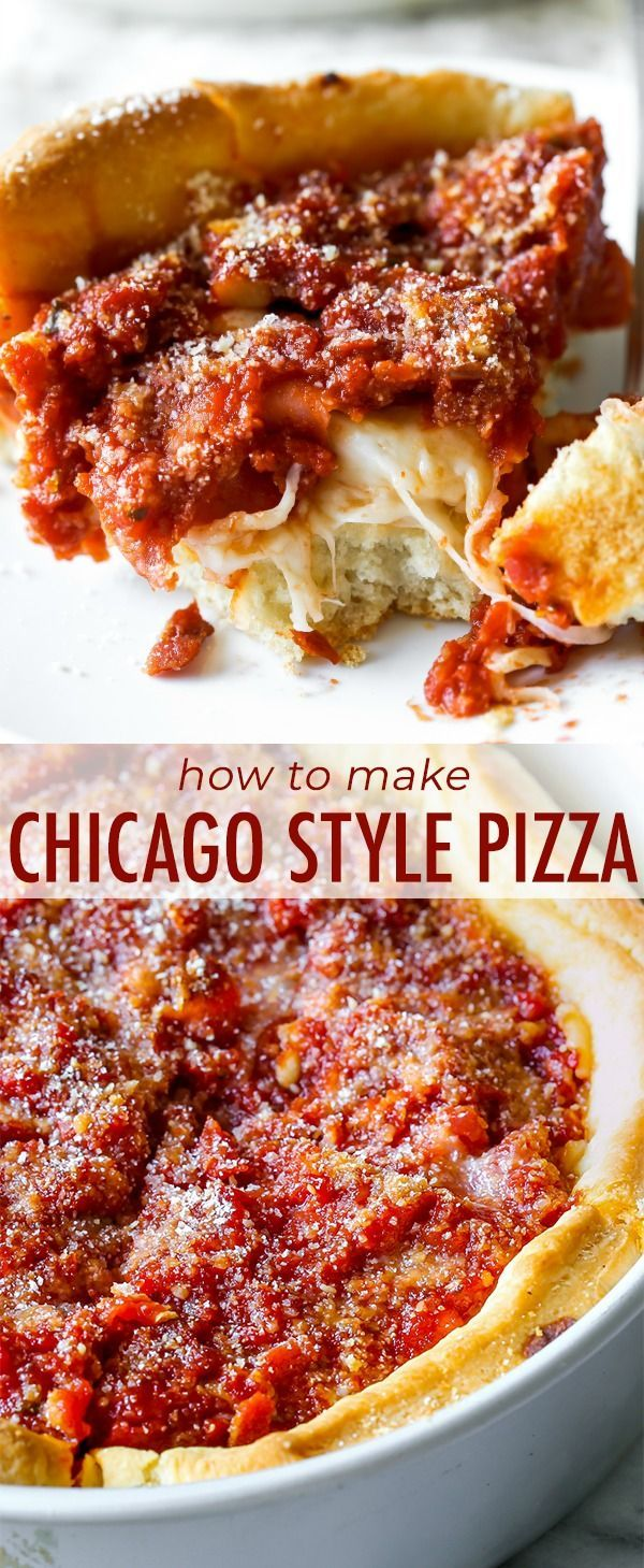 Photo of Chicago-Style Deep Dish Pizza | Sally's Baking Addiction
