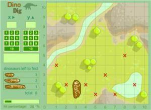 Coordinate Grid Games Dino Dig