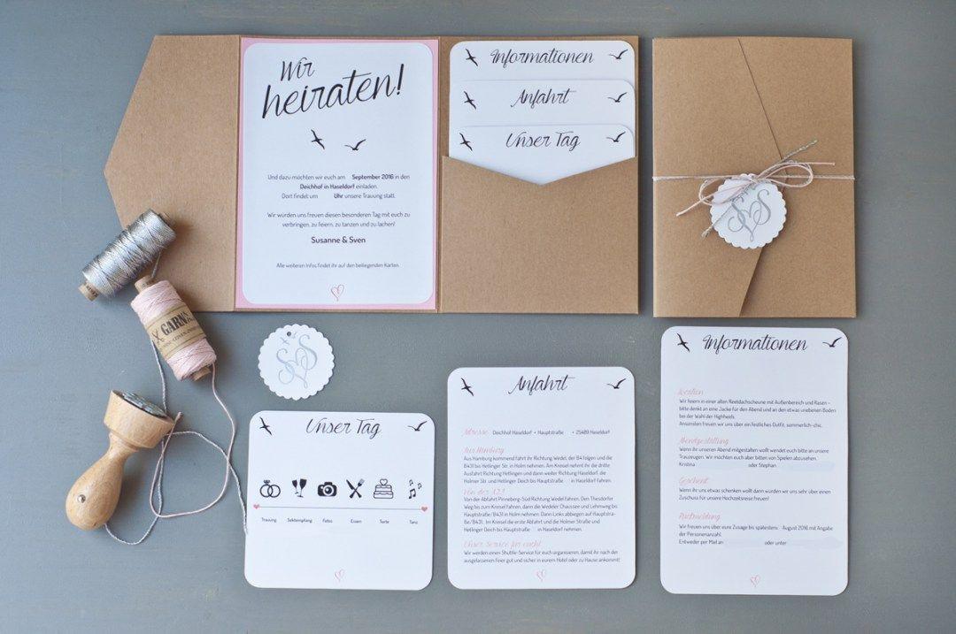 Unsere Hochzeitseinladungen Every Girl S Dream Pinterest