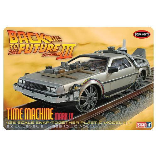 Back To The Future Iii Final Time Machine Snap Fit Model Kit