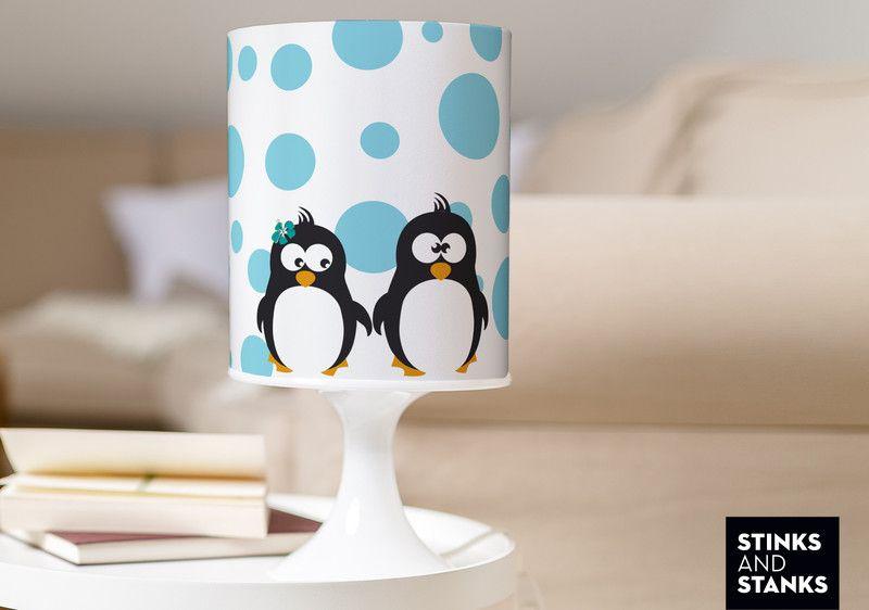 Lampe Pinguin Paar verliebt TLA008 von STINKSANDSTANKS – Dein besonderes Geschenk! auf DaWanda.com