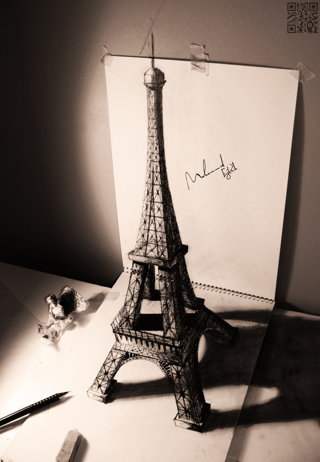 3d drawing of eiffel tower most beautiful pages pin me