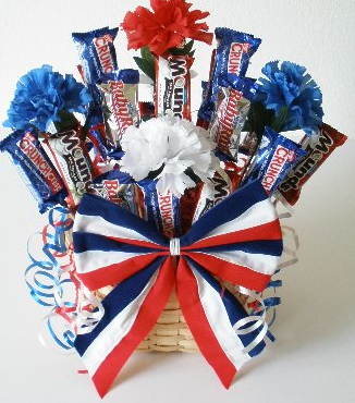 Happy 4th 4th Of July Decorations Candy Bouquet 4th Of July Party