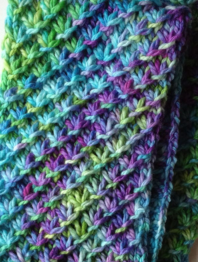 Free Knitting Pattern Star Stitch Scarf Morgen Dmmerungs Holding