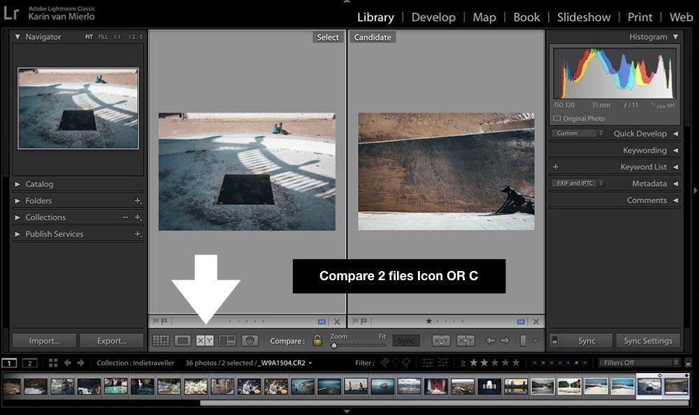 Lightroom cr2 files