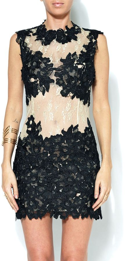 Issue New York Sheer Lace Lique Dress On Style