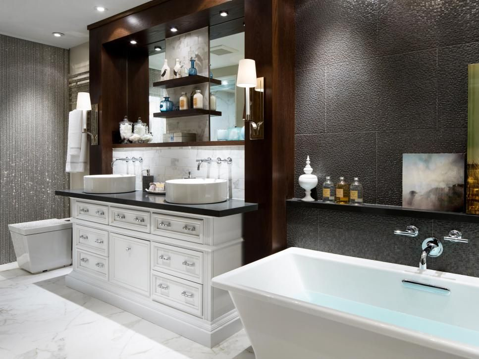 20 Luxurious Bathroom Makeovers From Our Stars  Bathroom Hardware Gorgeous Luxurious Bathroom Decorating Inspiration