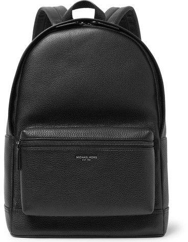 31b52f3680bf Michael Kors Full-Grain Leather Backpack Mens Back, Black Leather Backpack, Leather  Backpacks