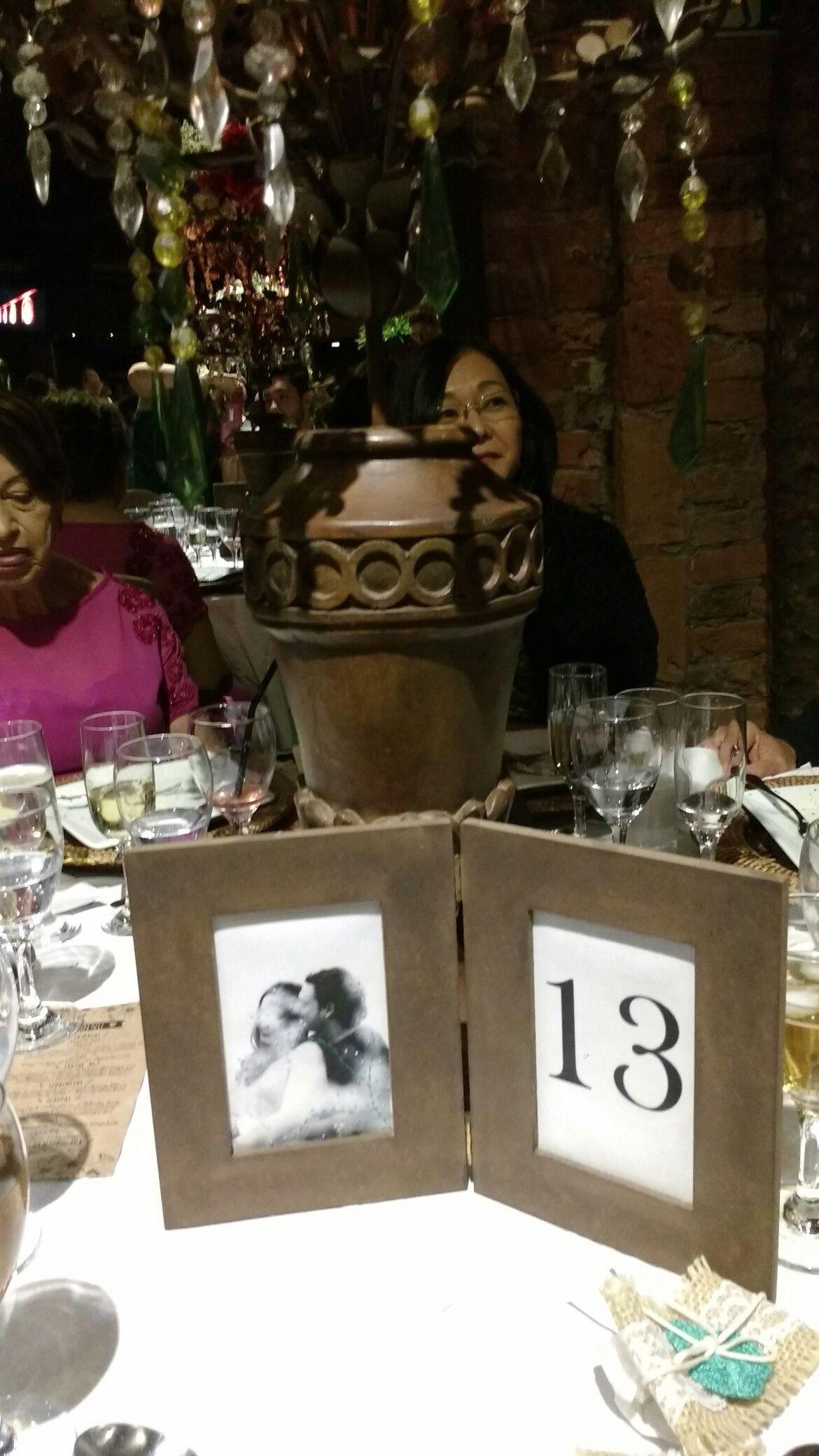 Número de mesa para casamento