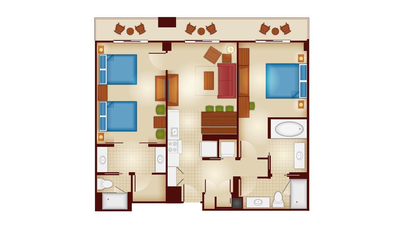Copper Creek Villas And Cabins 2 Bedroom Villa Floor Plan Disney Wilderness Lodge Wilderness Lodge Copper Creek
