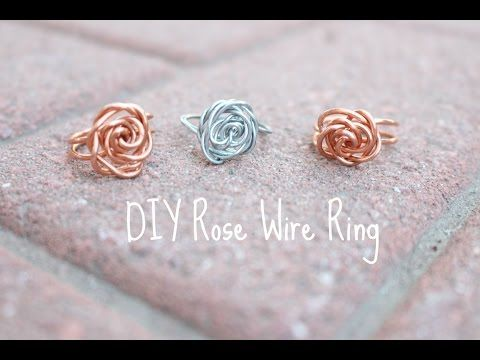 D.I.Y all the Time! Rose Wire Ring - YouTube | Wire Rings ...
