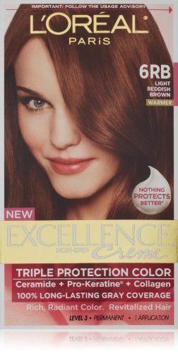 Hair Color 6rb Light Reddish Brown