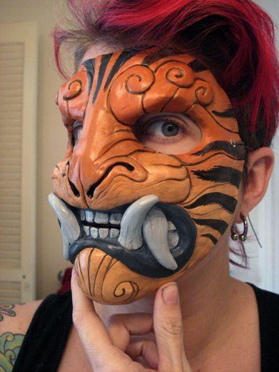 Striped demon mask by missmonster.deviantart.com on @deviantART