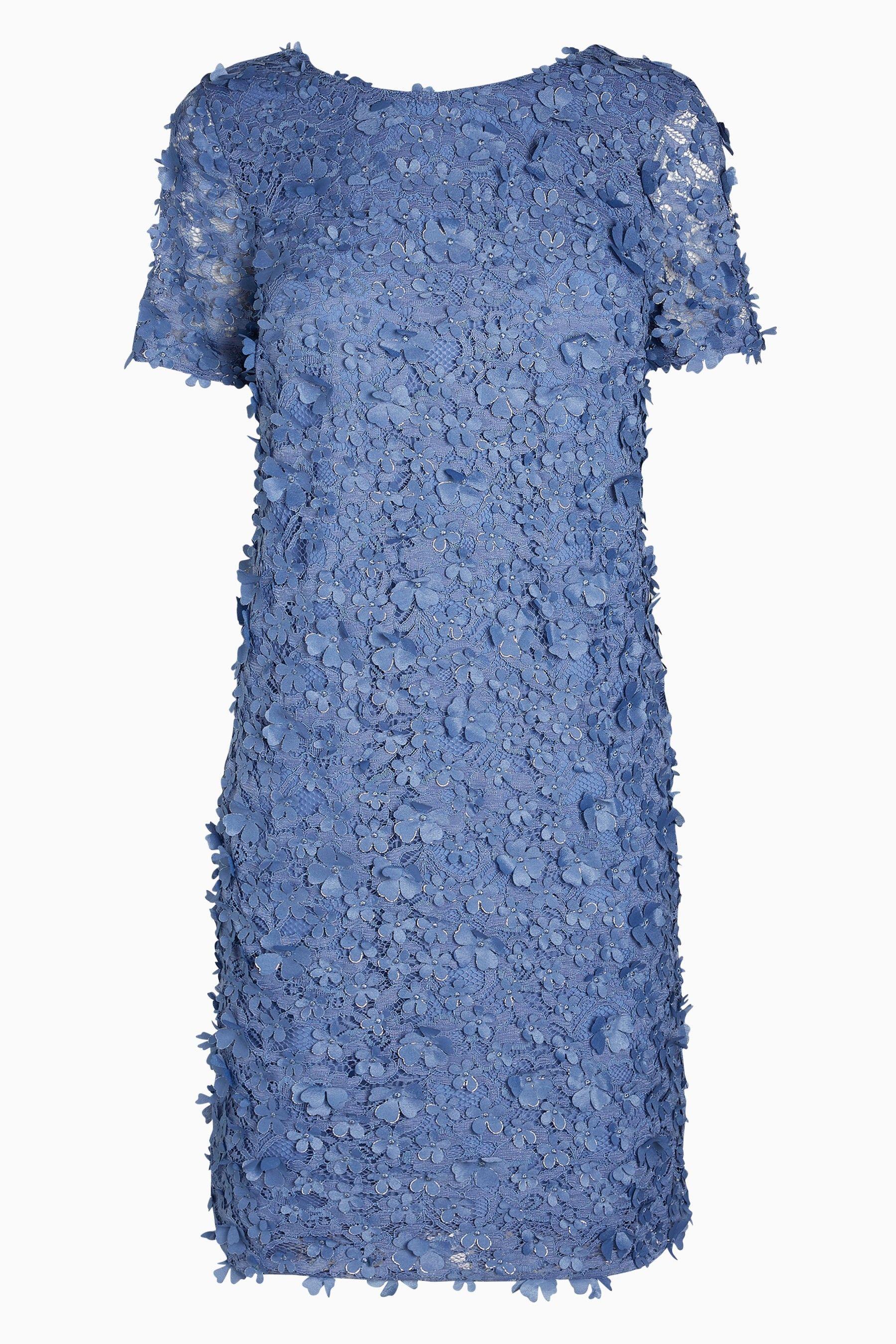 98bc65e67d11 Womens Next Blue Appliqué Shift Dress - Blue | Products | Dresses ...