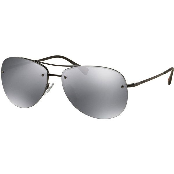 3f8ba7e6ff6 Prada Rimless Metal Aviator Sunglasses ( 245) ❤ liked on Polyvore featuring  men s fashion