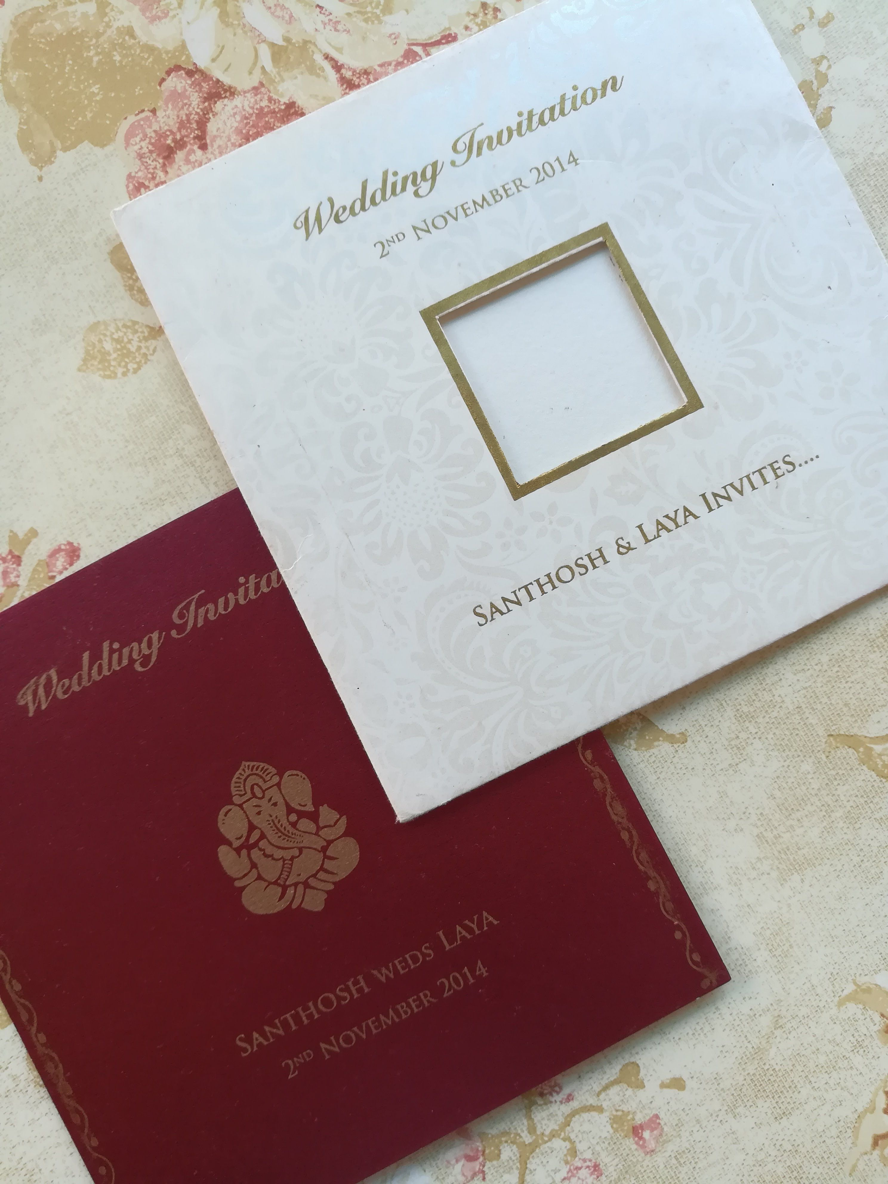 South Indian Traditional Wedding Card Which Conveys Modern And Traditional In A Classic Way D Wedding Invitations Hindu Wedding Invitations Hindu Wedding Cards