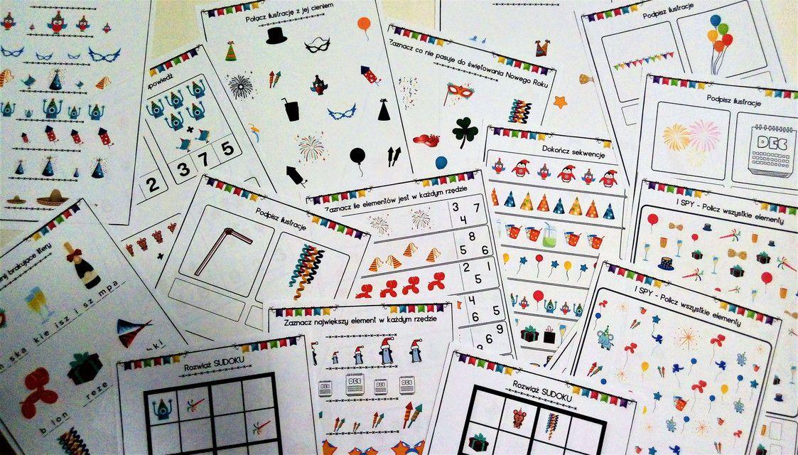 Zabawy I Karty Pracy Dla Dzieci Na Nowy Rok I Sylwestra Do Druku Pdf Monopoly