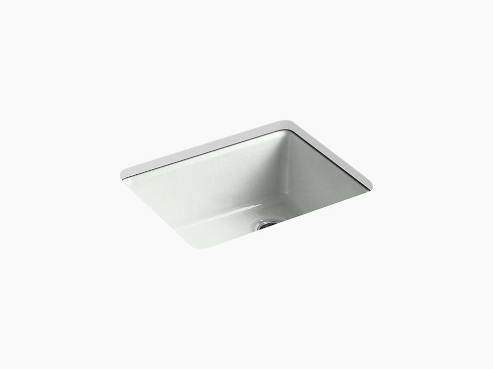 Kohler K 5872 5ua1 Riverby 25 Cast Iron Kitchen Sink Undermount