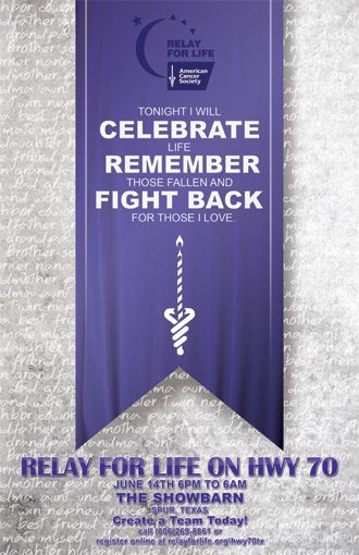relay for life banner ideas