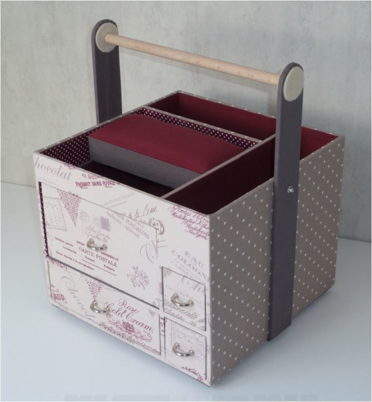 Cartonnage tuto de la desserte couture chadanel - Meuble en carton tuto ...