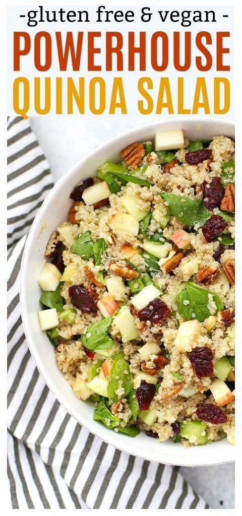 Powerhouse Quinoa Salad -  Powerhouse Quinoa Salad – This fall quinoa salad is LOADED with superf