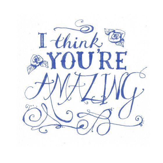 You're Amazing designed by Vicki Jones on Celebrations.com