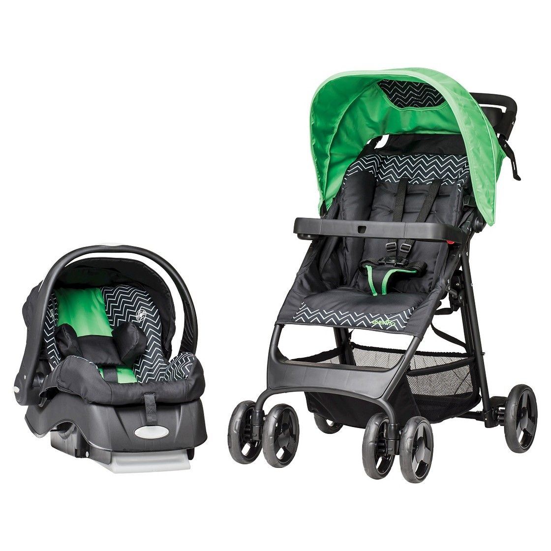 Evenflo FlexLite Travel System Chevron Travel system