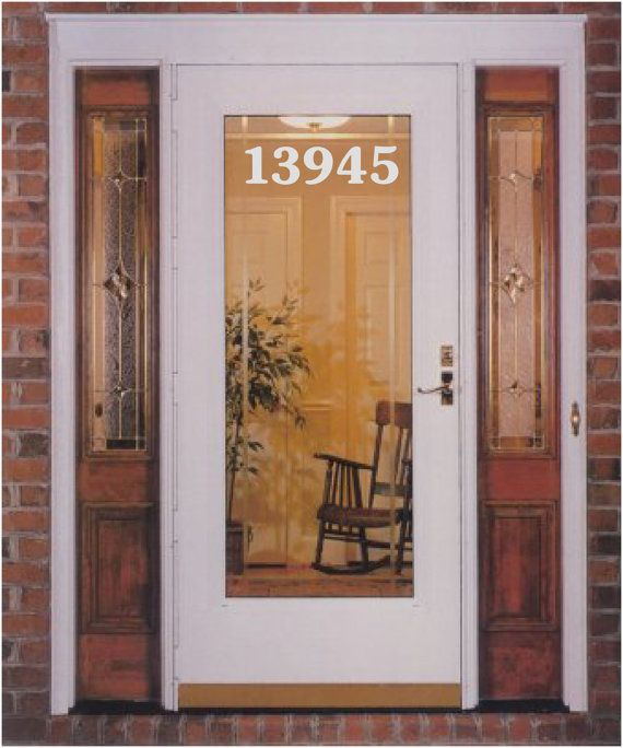 Etched Glass Vinyl House Numbers 3 Decal Address Custom Decals On 14 95