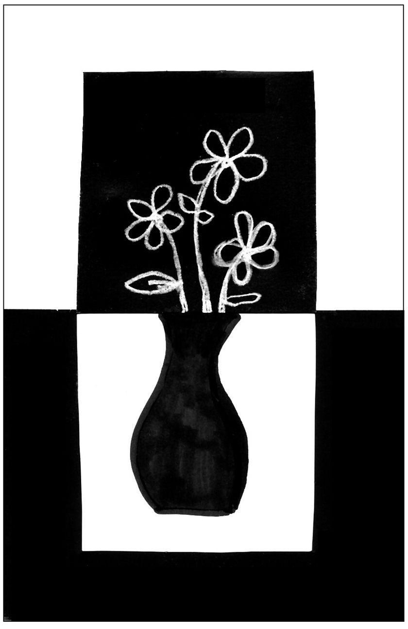 blackwhite positivenegative still life art projects for kids