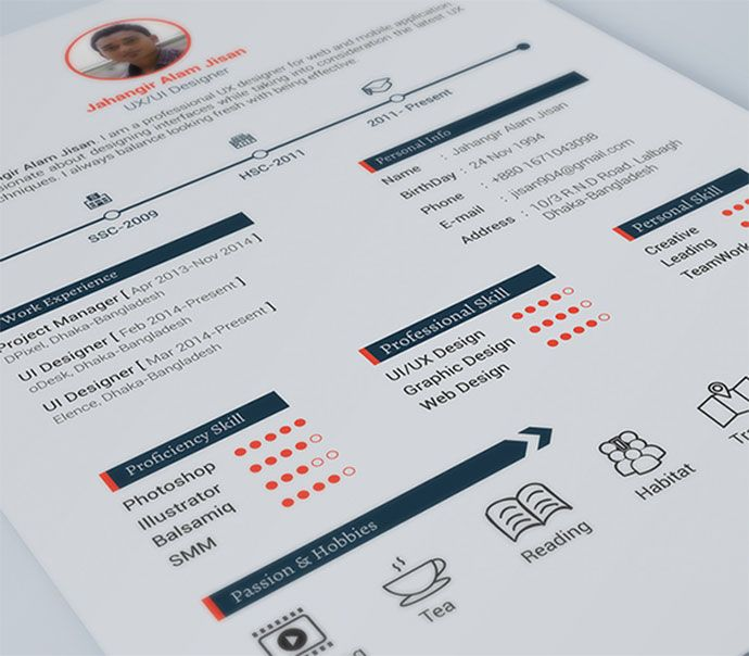 Free Cv Resume Templates  Html Psd  Indesign   Free Resume