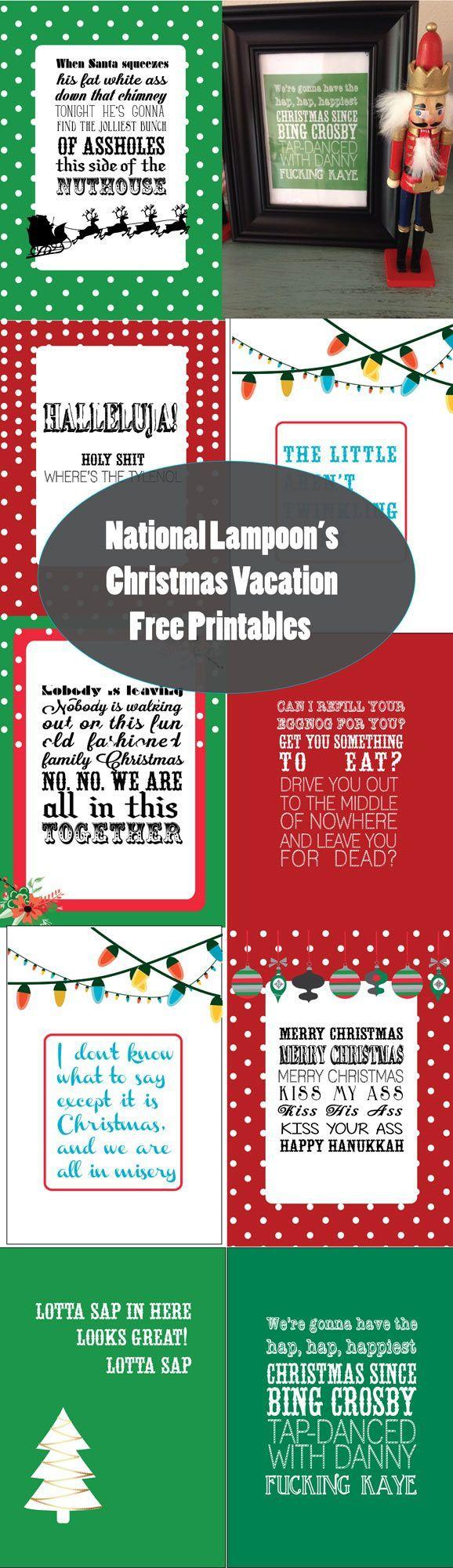 National Lampoons Christmas Vacation Free Printables
