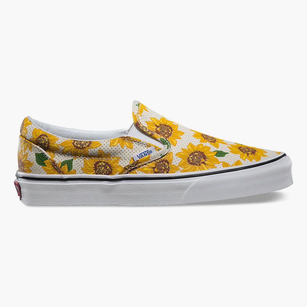 Sunflower Stripe Art Breathable Fashion Sneakers Running Shoes Slip-On Loafers Classic Shoes