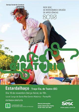 Na terça-feira, dia 10/11, às 15h acontecerá a apresentação do espetáculo ESTARDALHAÇO com Traço Cia. de Teatro.  A apresentação acontecerá no Largo de Santa Rita onde receberemos algumas turmas da Casa da Criança.  #Sesc #SescParaty #CasaSesc #CasaSescParaty #cultura #turismo #arte #VisiteParaty #TurismoParaty #Paraty #PousadaDoCareca #SiloCultural #SiloCulturalParaty #Estardalhaço #TraçoCiaDeTeatro #Teatro #PalcoGiratório