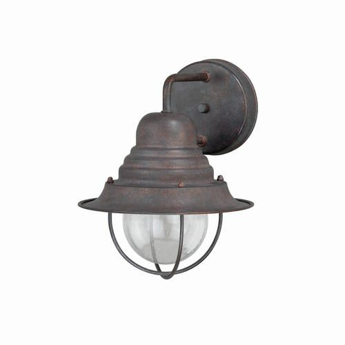 "Garden Sheds Menards chatham 1-light 10.25"" weathered patina outdoor wall light at"